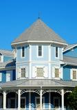 Blue Victorian Home Stock Photos