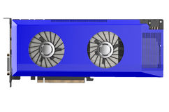 Blue video card Royalty Free Stock Images