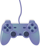 Blue Video Game Controller Royalty Free Stock Image