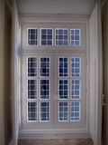 Blue view window Stock Photography
