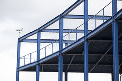 Blue Viewing Platform with Steel Girders. And railings Stock Photos