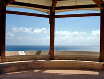 Blue Viewpoint. Viewpoint at Kourion archaeological site, Cyprus Stock Image