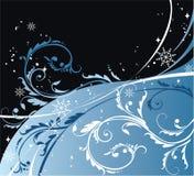 Blue vignettes. Blue vignette design with snowflakes Royalty Free Stock Photo