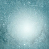 Blue vintage background with vignette and grunge Stock Photography