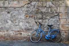 A blue vintage bike Stock Photography