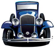 Blue vintage car royalty free illustration