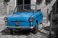 Blue vintage car. Royalty Free Stock Photos