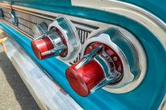 Blue Vintage Car details Tail lights Stock Photography