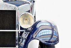 Blue vintage car Stock Photography