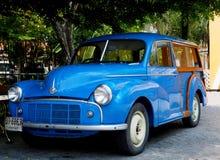 Free Blue Vintage Car Morris Minor 1000 Traveller Stock Photos - 114463873