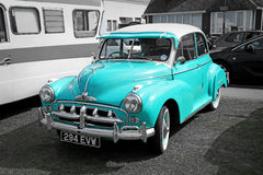 Blue vintage car Royalty Free Stock Images