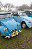 Blue Vintage cars Citroen 2 CV Stock Image