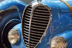 Blue vintage classic car for sale at auction Royalty Free Stock Image