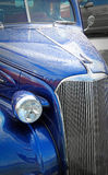 Blue vintage customised ford car Stock Image