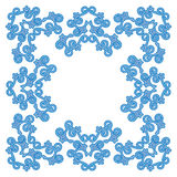 Blue vintage design element - vector Royalty Free Stock Image
