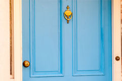 Blue vintage door Royalty Free Stock Images