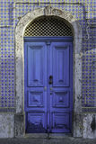 Blue vintage door Royalty Free Stock Image
