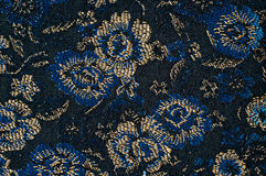 Blue vintage fabric Stock Image