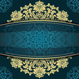 Blue vintage floral background Royalty Free Stock Images