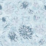 Blue vintage floral pattern Stock Photography