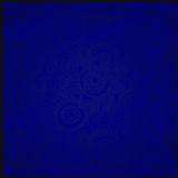 Blue vintage floral seamless paisley pattern Stock Image
