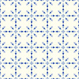 Blue Vintage Flower and Arrow Pattern on Pastel Background Royalty Free Stock Image