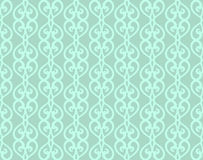 Blue Vintage Forged Lacing Seamless pattern Royalty Free Stock Photography