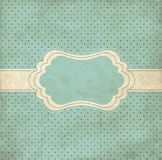 Blue vintage frame Royalty Free Stock Images
