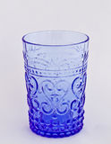 Blue Vintage Glass. Blue Vintage Water Glass Isolated Royalty Free Stock Photography