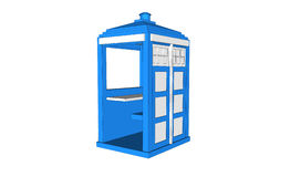 Blue vintage guardhouse Royalty Free Stock Photo