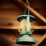 Blue vintage lantern Royalty Free Stock Photos
