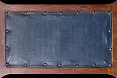 Blue vintage leather signboard Stock Photo