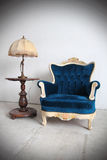 Blue vintage luxury armchair 2 Royalty Free Stock Photography