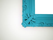Blue vintage mirror frame concept Royalty Free Stock Photo