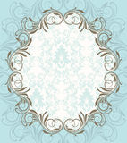 Blue vintage ornate frame Royalty Free Stock Photo