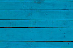 Blue vintage painted wooden panel with horizontal planks.  Stock Photography