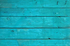 Blue vintage painted wooden panel with horizontal planks Royalty Free Stock Photo
