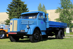 Blue Vintage Scania Vabis Pickup Truck stock images