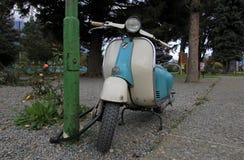 Blue Vintage scooter in Argentina. Blue Vintage scooter in El Bolson, Argentina Stock Image