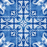 Blue vintage seamless Royalty Free Stock Image