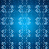 Blue vintage seamless pattern Stock Image
