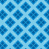 Blue Vintage Seamless Pattern stock images