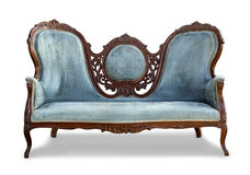 Blue vintage sofa Stock Photography