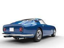 Blue vintage sports car - taillight view Royalty Free Stock Photography
