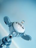 Blue Vintage style cold tap abstract image. Matching red hot tap also available royalty free stock photos
