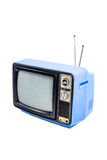 Blue vintage style old television Royalty Free Stock Photo