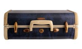 Blue vintage suitcase Stock Photos
