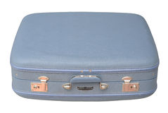 Blue Vintage Suitcase - closed Royalty Free Stock Photos