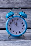 Blue vintage table clock Stock Images