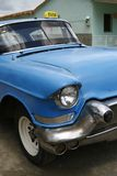 Blue vintage taxi cab in Havana, Cuba Stock Image